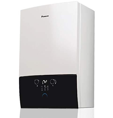 Caldera de condensación Daikin 24 kW ultracompacta, calefacción, producción de agua sanitaria instantánea + kit de humos (1, modelo Base)