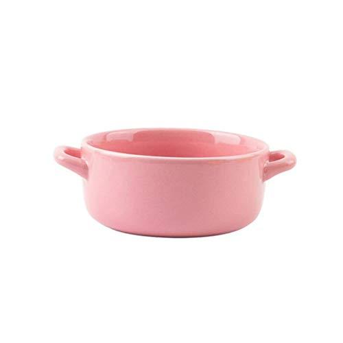 YUZHUKKKPYZ W Cereal Bowls Hogar 1900ml Cerámica Arroz Bowl, Doble Oreja Bowl, Fideos Instantáneos, Gran Capacidad Sopa Bowl, Solo Ramen Sopa, Vajilla de Restaurante Adecuado para Horno y Microwa