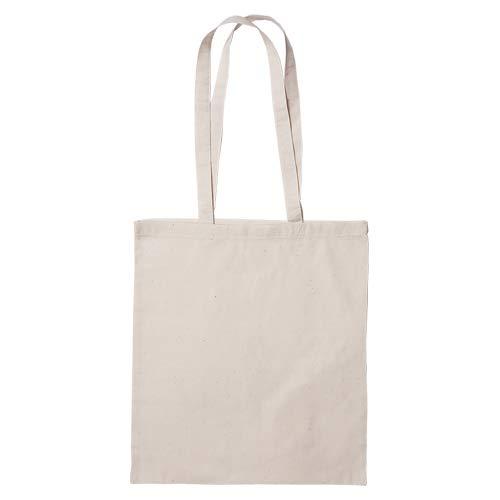 Publiclick® Lote25 unidades Bolsa de algodón ECO 140 gr COTT,Med 37 X 41 m,Bolsa algodón personalizable, asas larga, Rest 9kg