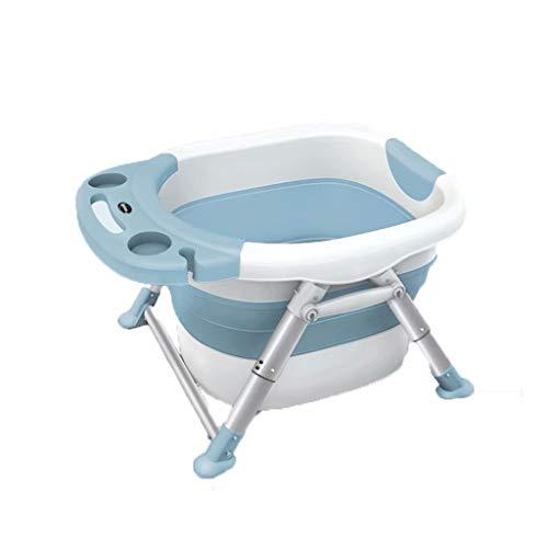 YLJJ Bañera Plegable para bebés, bañera Multifuncional para tumbarse, bañera Grande de plástico para bebés, Azul, 79 * 59 * 15 (5,9 kg)
