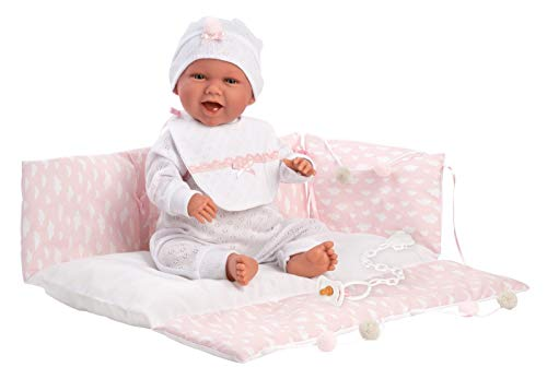 Llorens 42 cm Puppe Baby Mimi Lachen 74082