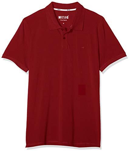 MUSTANG Herren Alex PC Polo Poloshirt, Rot (Rhubarb 7194), Small (Herstellergröße: S)