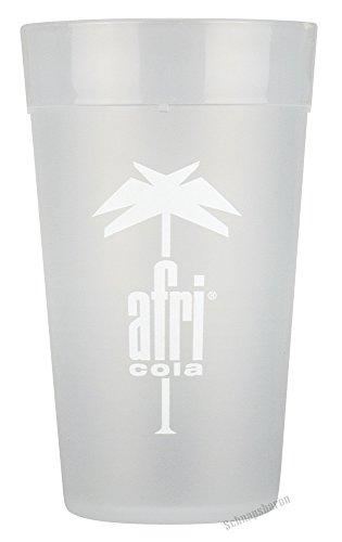 afri cola 0,2l Mehrwegbecher 6 Stück Kunststoff Becher transparent mattiert