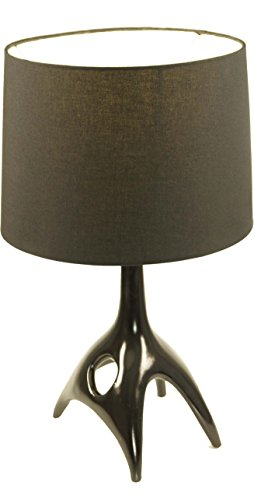 Guru-Shop Tafellamp Kokopelli - Bakhaw Zwart, 47x28x28 cm, Klassiek Moderne Tafellampen