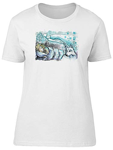 Camiseta feminina Astral Projection Doodle, Branco, P