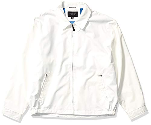 LONDON FOG Men's Auburn Zip-Front Golf Jacket (Regular & Big-Tall Sizes), White, Large