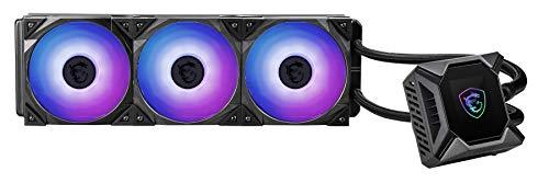 MSI MPG Series RGB CPU Liquid Cooler (AIO): Customizable LCD Screen Design, 360mm Radiator, Triple 120mm RGB PWM Fans, MPG CORELIQUID K360