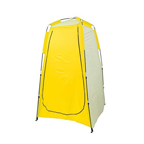 Hbao Ducha de privacidad portátil Baño de Inodoro Impermeable Cambio de Sala de Montaje Tienda de campaña Refugio para Playa al Aire Libre (Color : Yellow)