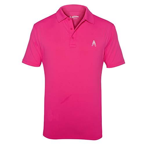 Royal & Awesome Performance Pink Golf Polo Shirt - X-Large