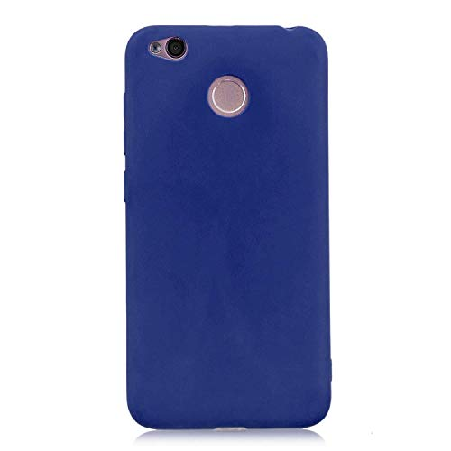 cuzz Funda para Xiaomi Redmi 4X+{Protector de Pantalla de Vidrio Templado} Carcasa Silicona Suave Gel Rasguño y Resistente Teléfono Móvil Cover-Azul Oscuro
