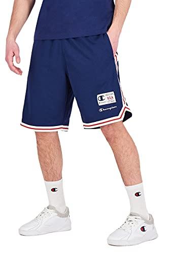 Champion Herren Sweatshorts Bermuda 215927, Farbe:blau (mnb), Größe:M