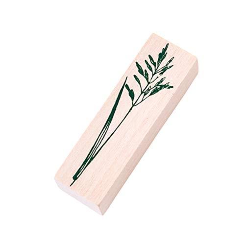 Laileya Deja Hacer Plantas forestales planificador Diario Sello de Scrapbooking El Cuadro de DIY Stationery Crafts Sello de Goma de Madera