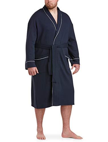 Amazon Essentials Men's Big & Tall Lightweight Shawl Robe Sleepwear, -Navy, XLT/2XLT