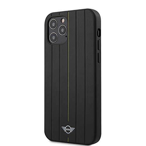 Mini Cooper Schutzhülle für iPhone 12 / 12 Pro (6,1 Zoll), PU-Leder, Gelb