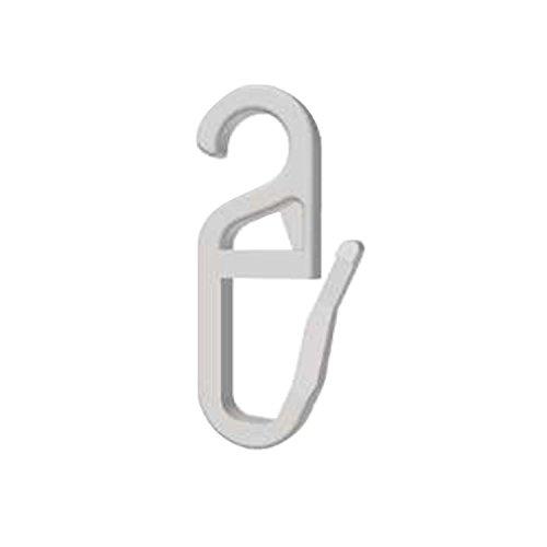 Stylelex 100x Hochwertige Überklipshaken, Faltenlegehaken, Gardinenhaken mit 5 mm Öse - Farbe: Transparent - Qualität Made in Germany - Für Rundringe
