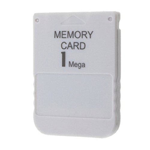 Childhood 1MB Memory Card per Sony Playstation One PS1 Console 1 Mega Memory Card bianca