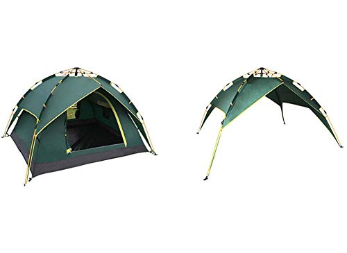 Yx-outdoor Volledig automatische dubbele tent, snel opzetten draagbare tent, met muskietennet, winddicht en waterdicht, 3-4 personen