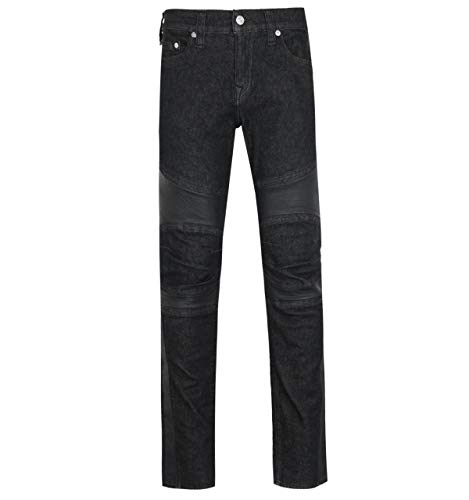 True Religion Rocco Skinny Fit Black Moto Denim Jeans