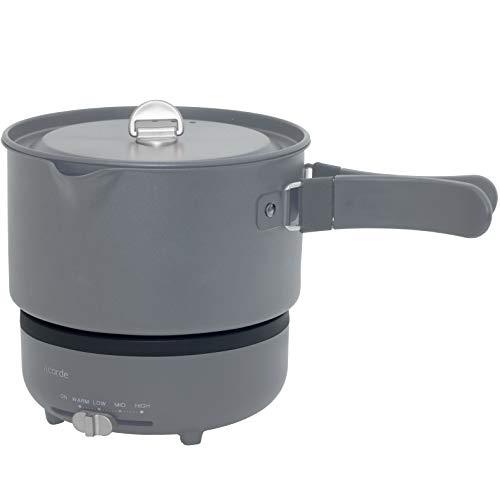[山善]クッキングポット&プレートお料理ケトルひとり暮らし用acorde(温度調節機能/丸洗い可能/保温機能)チャコールグレーGGC-W600(CG)[メーカー保証1年間]