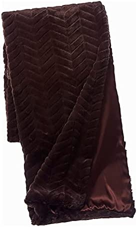 Faux Industry No. 1 Addict 50x80 New York Mall Mink Luxury Fur Brown in Oversized Throw