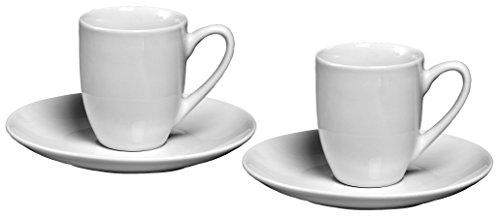 Ritzenhoff & Breker Espresso-Set Bianco, 4 teilig, 80 ml