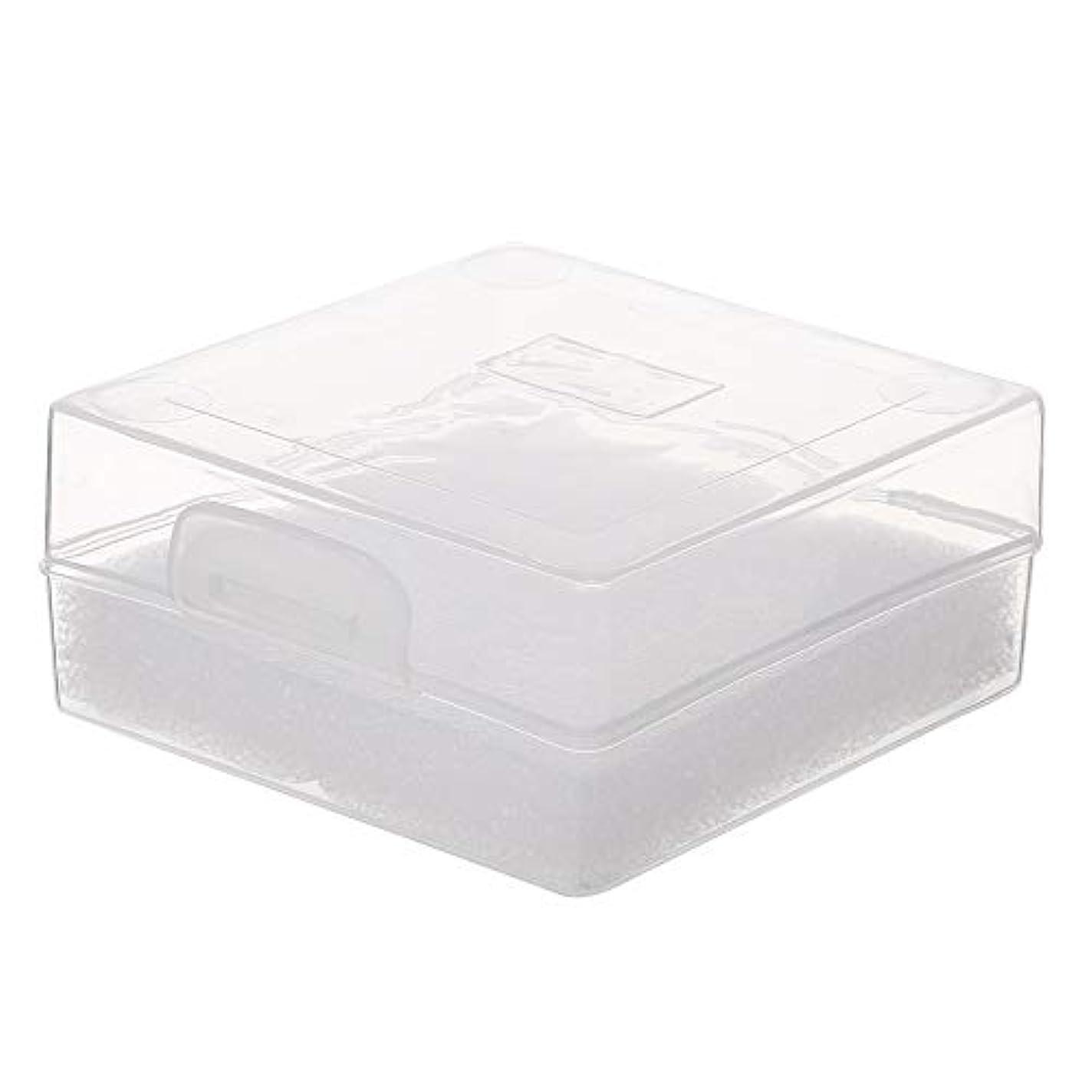 コンバーチブル作る扱いやすいDecdeal 100穴 研削ヘッドボックス ネイルドリルビットホルダー ネイル製品用ネイルツールストレージコンパクト便利な透明