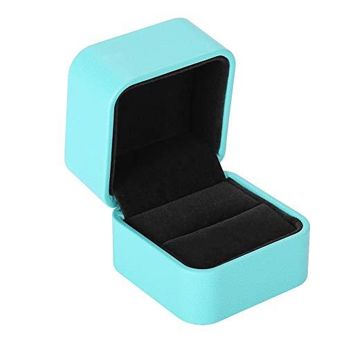 Caja del Anillo, Elegante Caja Joyero de para Compromiso y Boda Organizadores de Joyería Caja de Exhibición, Joyería de Cuero de la PU Joya Regalo Accesorios Caja de Embalaje(1#)
