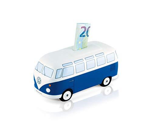 BRISA VW Collection - Volkswagen T1 Bulli Bus Spar-Büchse-Schwein-Dose, Geschenk-Idee/Fan-Souvenir/Retro-Vintage-Artikel (Keramik/Maßstab 1:22/Classic Blau)