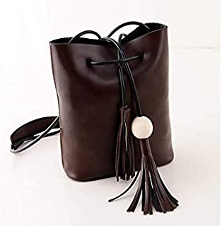Bag For Girls,Dark Brown - Bucket Bags