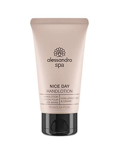 alessandro Spa Nice Day Handcreme - Leichte Handlotion mit Hyaluronsäure und Kaviar, 75 ml