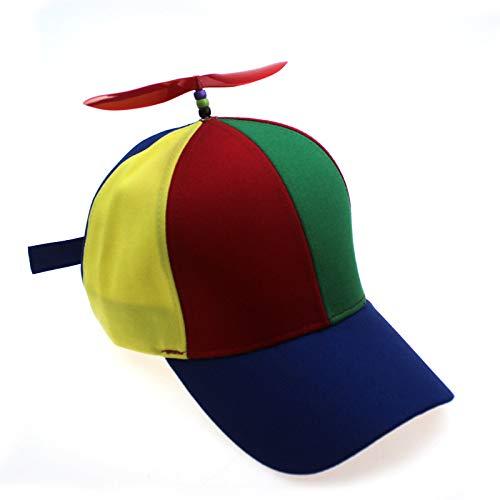 Sdssup Sombrero de bambú con hélice