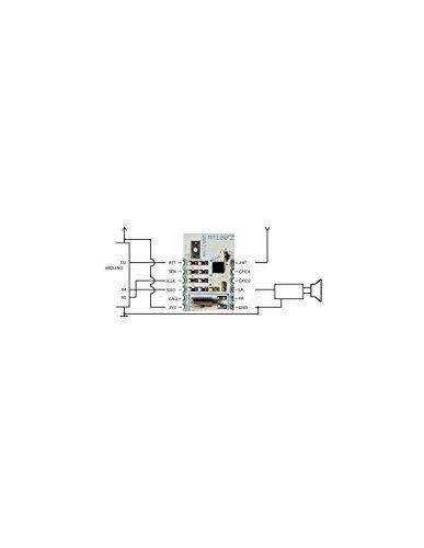 Velleman MM100 FM/RDS ontvanger mini-module, meerkleurig