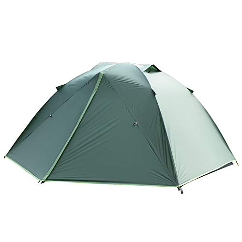 Backpacking Tent for Outdoor,Lightweight Ultralight Portable Tents for Camping Hiking Mountaineering,Easy Set Up with Compact Folding Aluminum Poles(Dark Green 2people