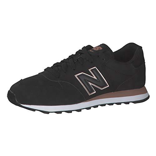New Balance 500 Core, Zapatillas Mujer, Negro (Black), 39 EU