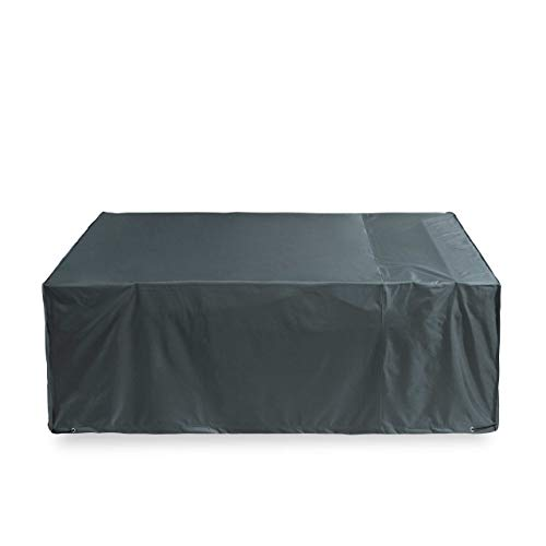 Lumaland Waterproof Garden Furniture Cover 240 x 140 x 90 cm Oxford 600D 280 g/m² Rectangular Waterproof Protective Cover Tarpaulin with Handle in Green/Grey