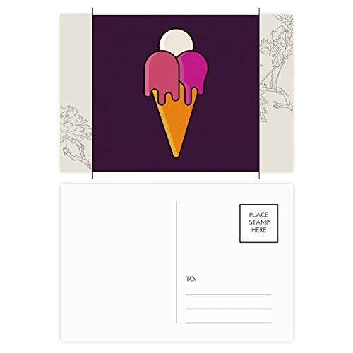 DIYthinker Wit Rood Smelt Zoete Ijs Cone Patroon Bloem Postkaart Set Thanks Card Mailing Zijkant 20 stks 5.7 inch x 3.8 inch Multi kleuren