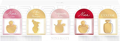 Nina Ricci Air Mail Femme Miniature Gift Set 5 x 0.1oz (4ml) - Ricci Ricci EDP + Nina L'eau EDT + Ma