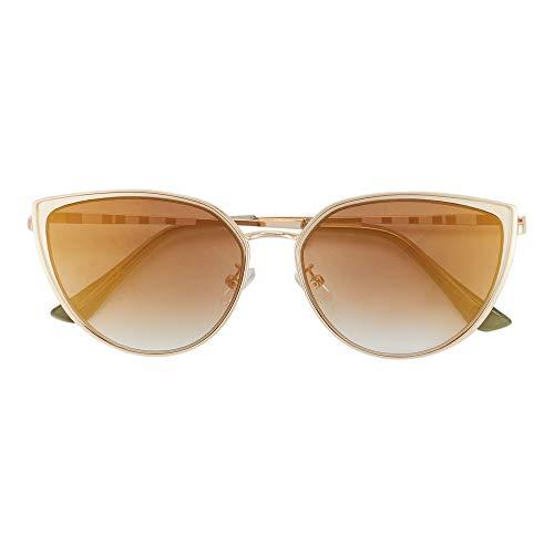 Parfois - Gafas De Sol Cat Eye De Metal - Mujeres - Tallas Única - Ouro Claro