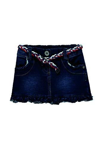 Steiff Mädchen Knitted Jeans Rock, Blau (Dark Blue Denim|Blue 0012), 110