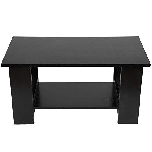 Robust und langlebig Sicher und stabil Umweltfreundlich Praktisch Multifunktionstisch Couchtisch Büro für zu Hause(Black walnut)