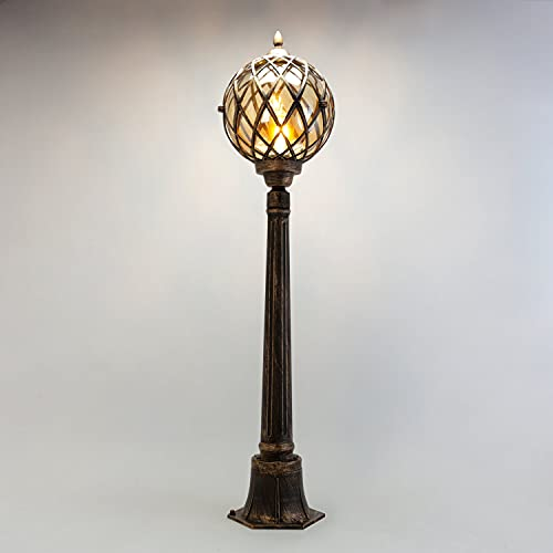 Lámpara de exterior rústica Kairo para exterior en color negro, cobre, vintage, rústica, para jardín