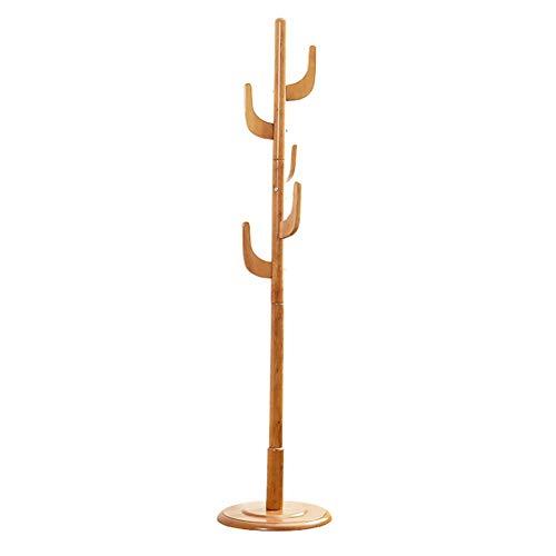 YAN FEI Perchero de pie Perchero Piso Madera Maciza Cactus Forma de árbol Dormitorio Sala de Estar Hall de Entrada Percha Perchero Ropa Creativa Perchero Soporte de suspensión (Color : Brown)