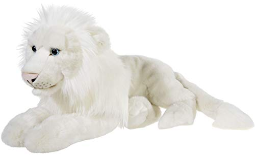 Heunec 237773 MISANIMO Weisser Löwe liegend 50 cm, weiß