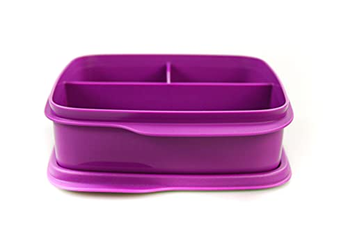 TUPPERWARE To Go Lunchbox 550 ml lila Trennwand Brotbox clevere Pause