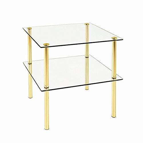 HAKU Möbel 43136 Beistelltisch 38 x 38 x 40 cm, messing