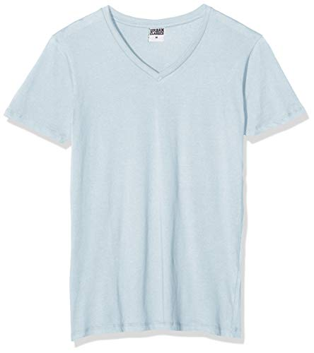 Urban Classics Basic V-Neck tee Camiseta, Azul (Babyblue 790), L para Hombre