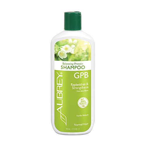 Aubrey GPB Balancing Protein Shampoo | Replenishes, Strengthens & Nourishes Damaged Hair | Aloe & Shea Butter | 75% Organic Ingredients | 11oz