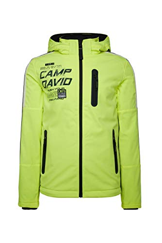 Camp David Herren Softshelljacke mit coolen Artworks und Tapes