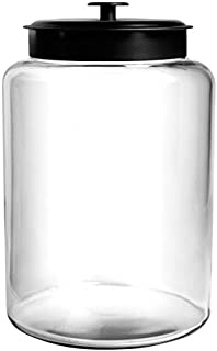 Anchor Hocking Montana Glass Jar with Fresh Sealed Lid, Black Metal, 2.5 Gallon