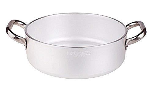 Pentole Agnelli ALMR110660 Sartenes de aluminio profesional de 5 mm, cacerola cilíndrica...